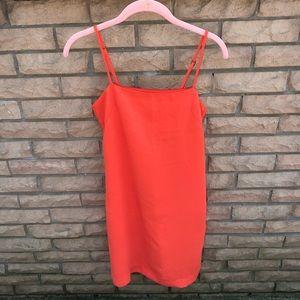 Orange H&M shift dress, knee length, worn once